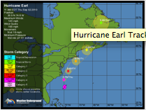 Hurricane Earl tracking from wunderground.org